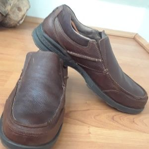 Dockers Brown Leather Dress  Slip On Loafers Sz 11
